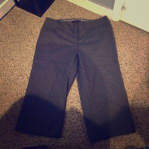 Lane Bryant cropped dress pants grey